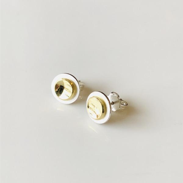 """Ohrringe """"rund"""" Silber und Gold von Goldkind"""