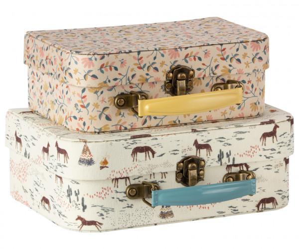 Koffer Set / 2 mit Stoff bezogen von Maileg