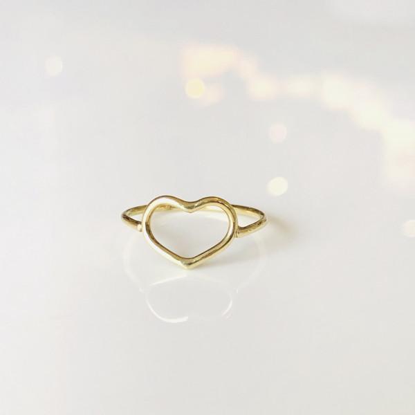 Zarter Ring mit Herz 585 Gelbgold 46 von Goldkind