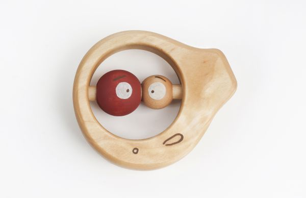 """Baby Rassel Holz """"Fisch mit rotem Auge"""" von Fiendly Toys"""
