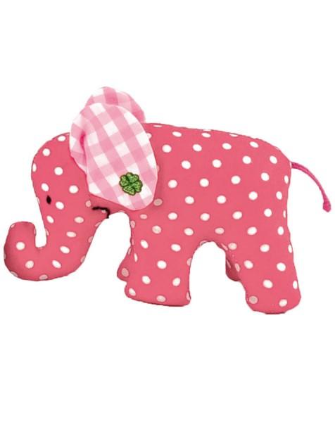 Mini Elefant rot mit weißen Punkten von Käthe Kruse