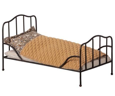 Maileg Vintage Bett Mini Anthrazit