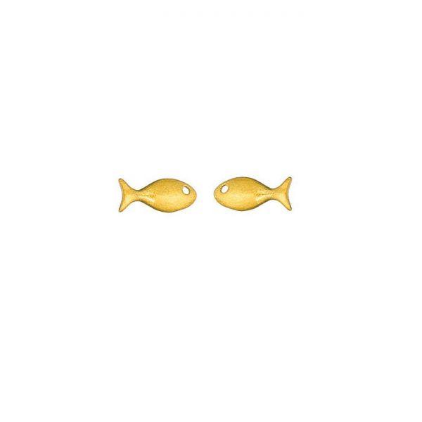 """Ohrringe """"Fisch"""" Gold von Onirolithi"""