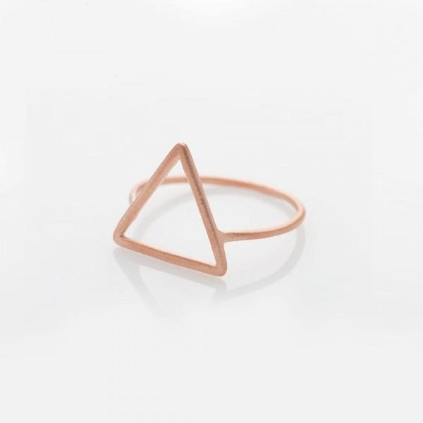 """Ring """"Triangel"""" Silber rosé vergoldet Größe 52 von Prigipo"""
