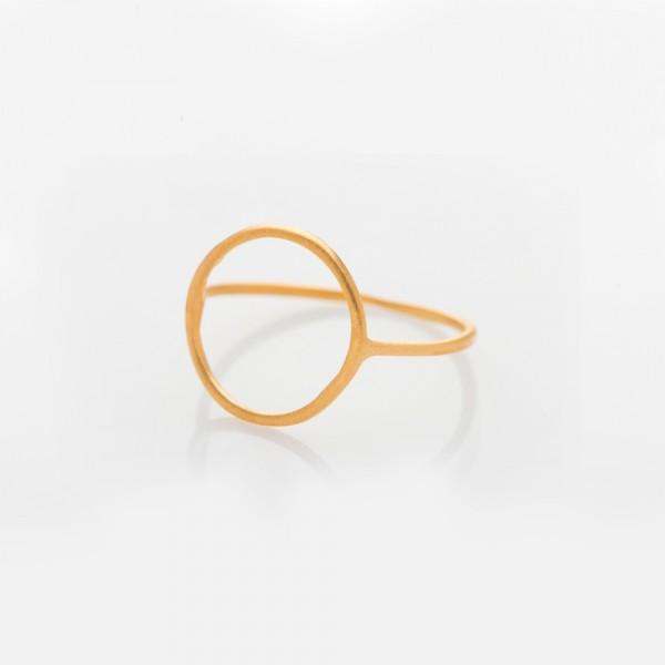 """Ring """"Circle"""" Gold Größe 54 von Prigipo"""