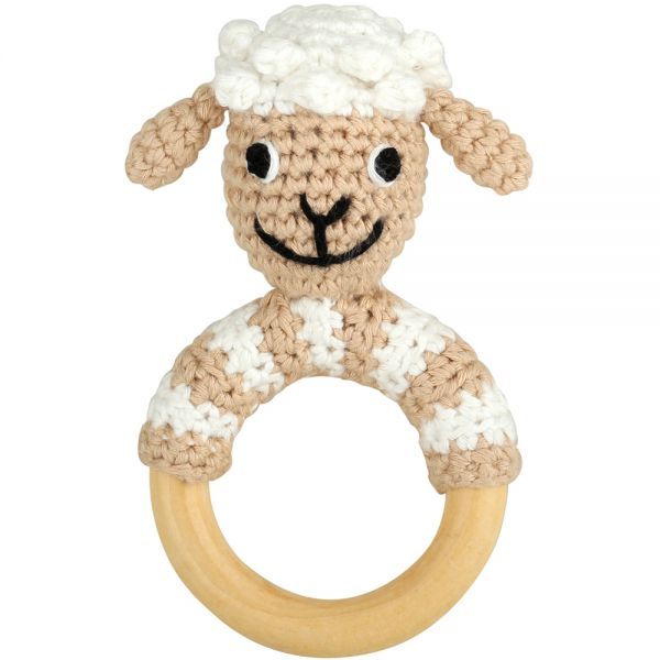 Sindibaba Rasselring Schaf gehäkelt