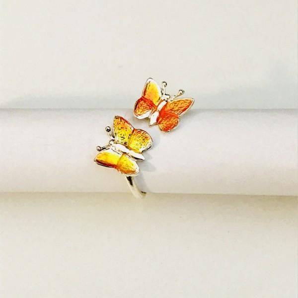 Kinderring Schmetterling in gelb