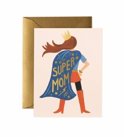 """Klappkarte """"Super Mum"""" von RIFLE PAPER Co."""