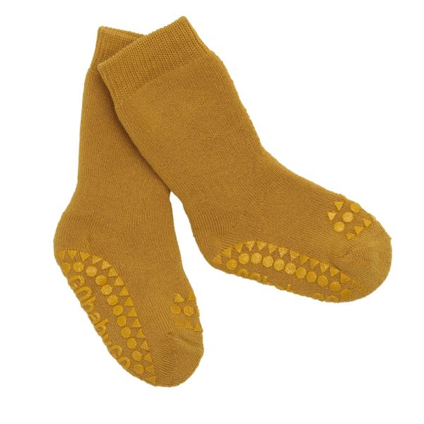 Non Slip Socks - Stoppersocken- Mustard 6-12 Monate von GoBabyGo