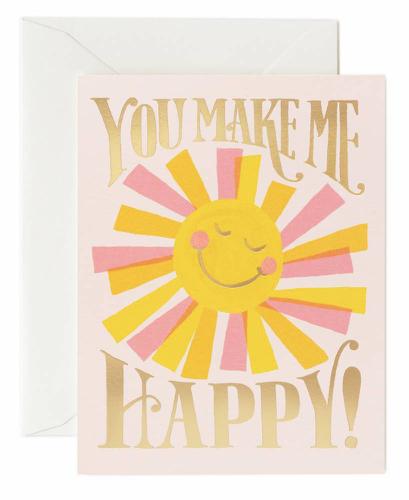 "Klappkarte "" you make me happy"" von RIFLE PAPER"