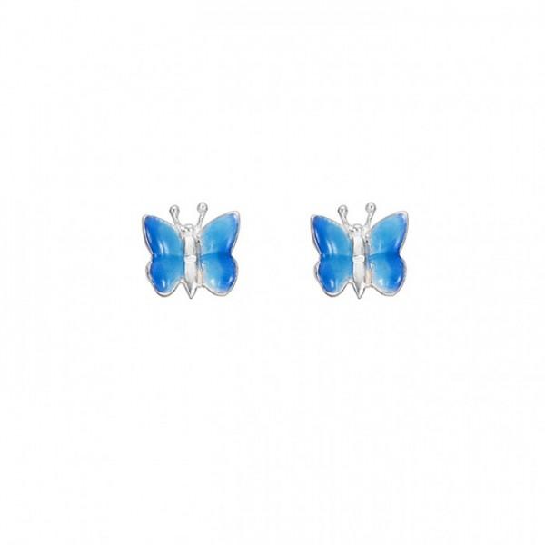 Ohrringe Schmetterlinge blau