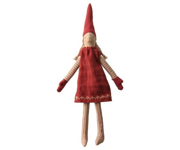 Kletter Wichtel Mädchen Kleid rot von Maileg