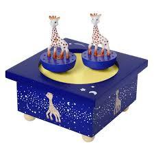 """Spieluhr """"Sophie la Giraffe"""" blau von trousselier"""