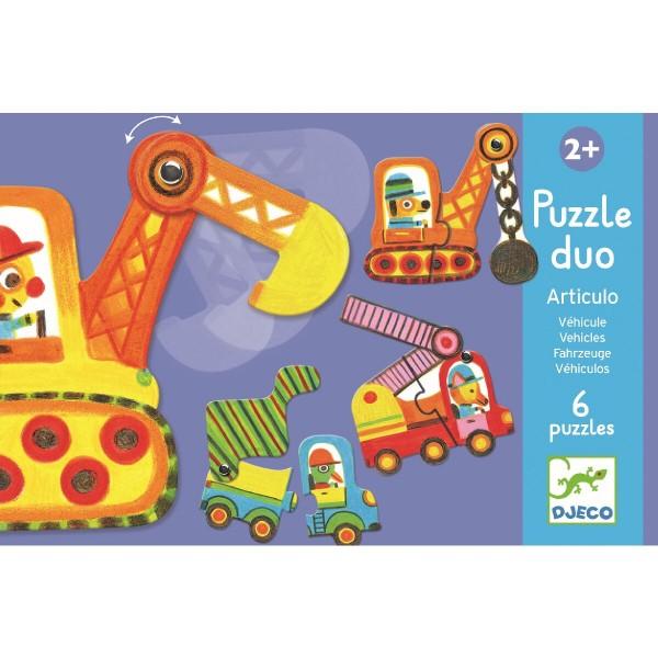 Puzzle Duo Fahrzeuge von Djeco