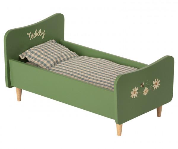 Wooden bed, Teddy dad, dusty green von Maileg
