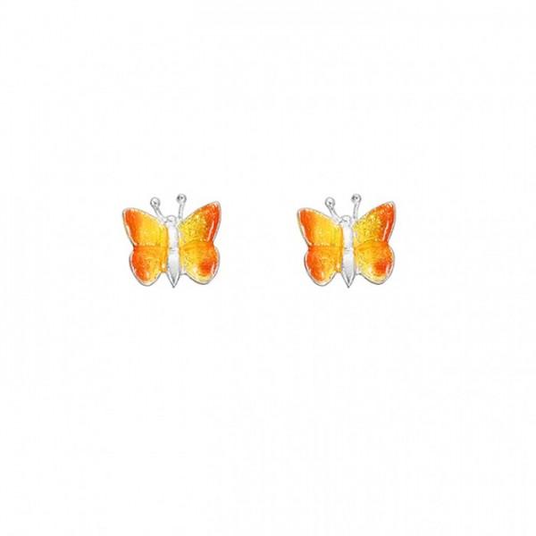 Ohrringe Schmetterlinge gelb