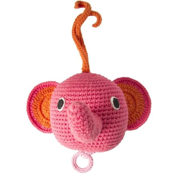 Spieluhr Elefant pink von Global Affairs