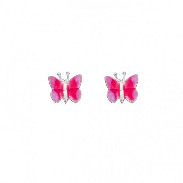 Ohrringe Schmetterlinge rosa
