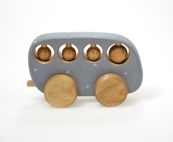 Blauer Bus Bio aus Holz von Friendly Toys