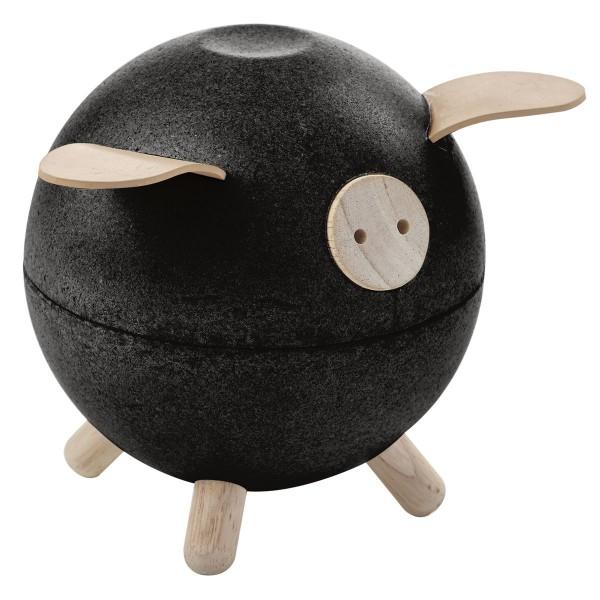 Sparschwein schwarz von Plan Toys