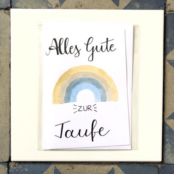 Klappkarte Alles Gute zur Taufe Regenbogen smilla cards
