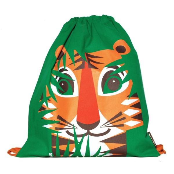 Turnbeutel MIBO Tiger - grün BIO