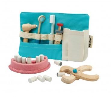 Zahnarzt Set aus Holz von Plan Toys