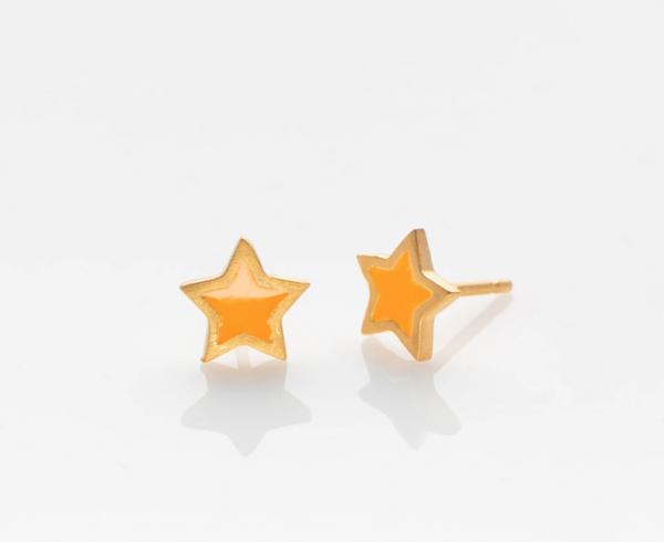 Stern Ohrringe golden/ gelb von Prigipo