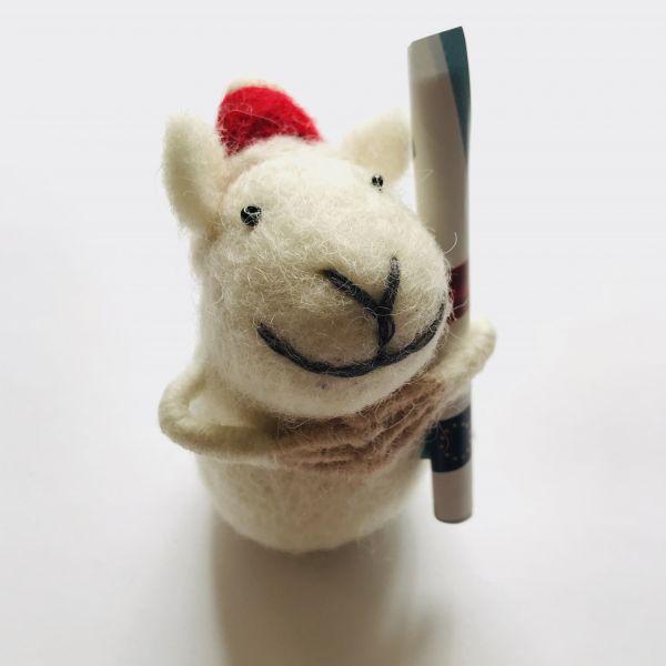 Weihnachts Filztier Schaf für Geld oder Gutscheine