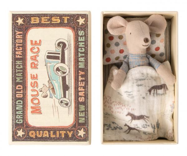 Little brother Mouse in box mit Pferdedecke von Maileg
