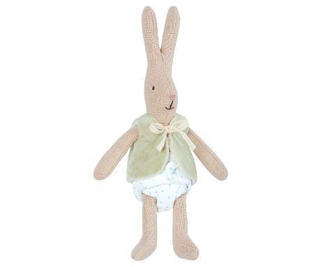 Kaninchen Micro Bunny mit Weste mint von Maileg
