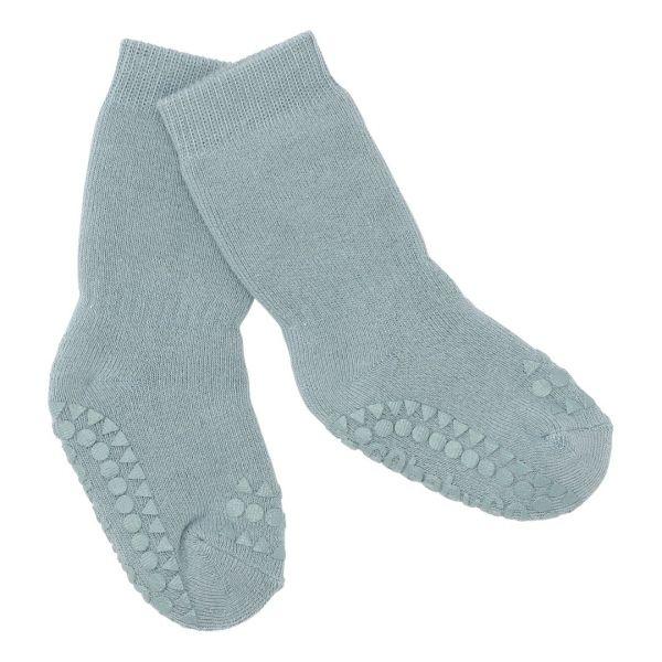 Non Slip Socks - Stoppersocken- Dusty Blue 6-12 Monate von GoBabyGo