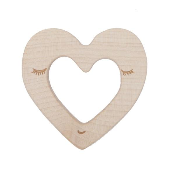 """Natürlicher Beißring """"Herz"""" von Wooden Story"""