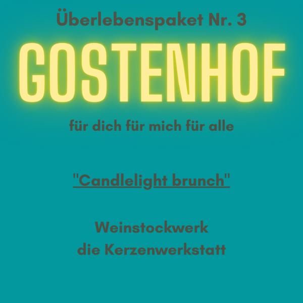 """Überlebenspaket Gostenhof Nr.3 """"Candlelight brunch"""" von Goldkind"""