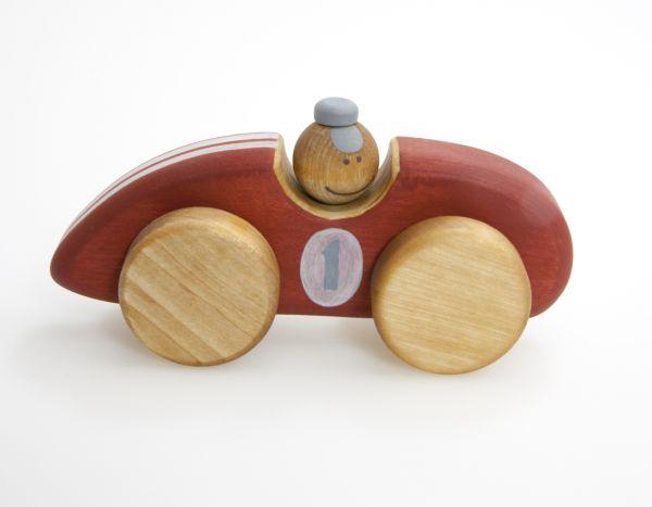 Rennauto rot aus Holz von Friendly Toys