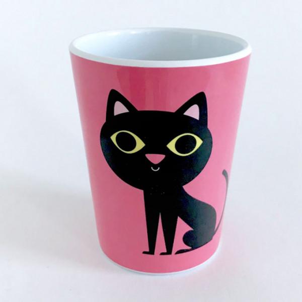 """Becher """"Katze pink"""" von OMM Design"""