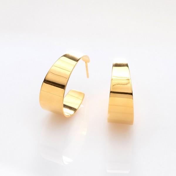 Half - Pipe Gold Ohrringe von Prigipo
