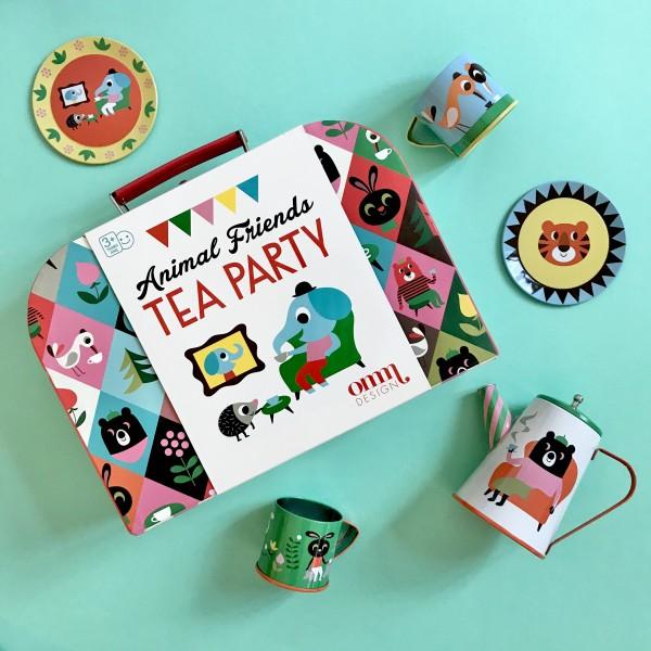 Tin Tea Set Animals von Omm Design