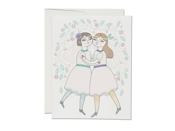"Klappkarte ""girl wedding"" Red Cap Cards"