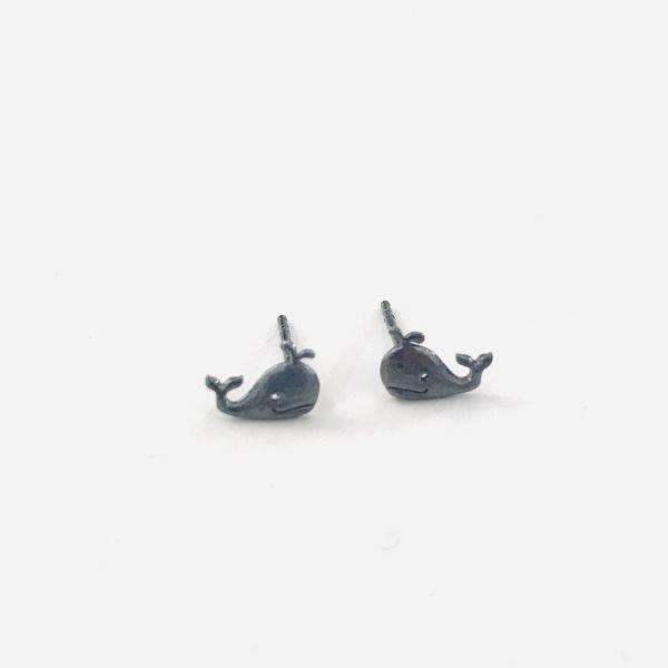 """Ohrringe """"Wal"""" Silber geschwärzt von Onirolithi"""