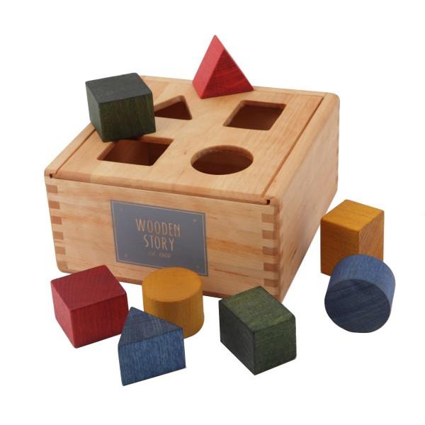 Bunte Sortierbox aus Holz BIO von Wooden story