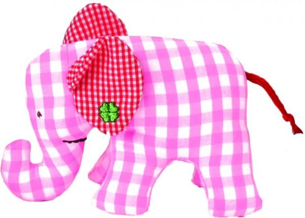 Mini Elefant rosa/weiß kariert von Käthe Kruse