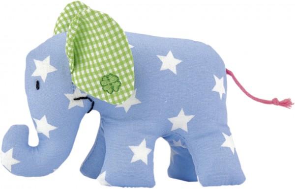 Mini Elefant blau mit weißen Sternen von Käthe Kruse
