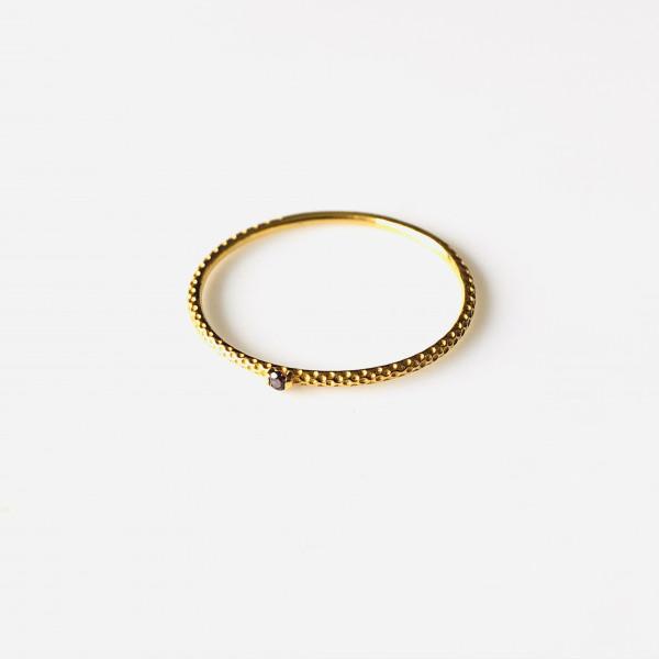 Zarter Ring 585 Gelbgold mit Amethyst von Krinaki