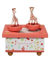 """Spieluhr """"Sophie la Giraffe"""" apricot von trousselier"""
