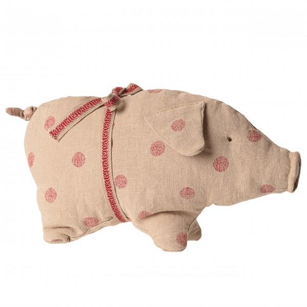 Stofftier kleines Schweinchen gepunktet von Maileg