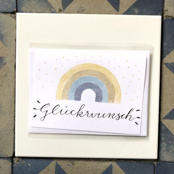 Klappkarte Glückwunsch Regenbogen smilla cards