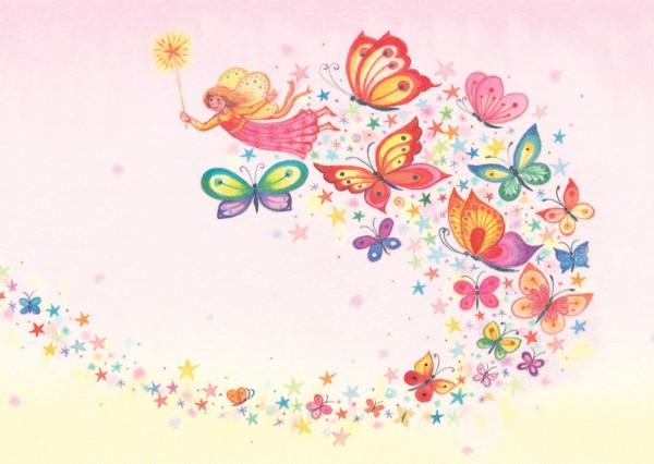 """Postkarte """"Wunschfee Schmetterlinge"""" von Captain Card"""