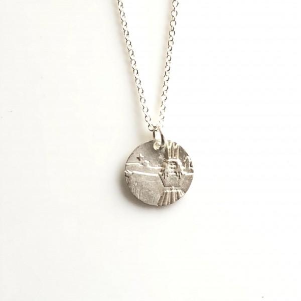 """Christkindlesmarkt Schmuck """"Kopf"""" klein Silber mit Silberkette von Goldkind"""