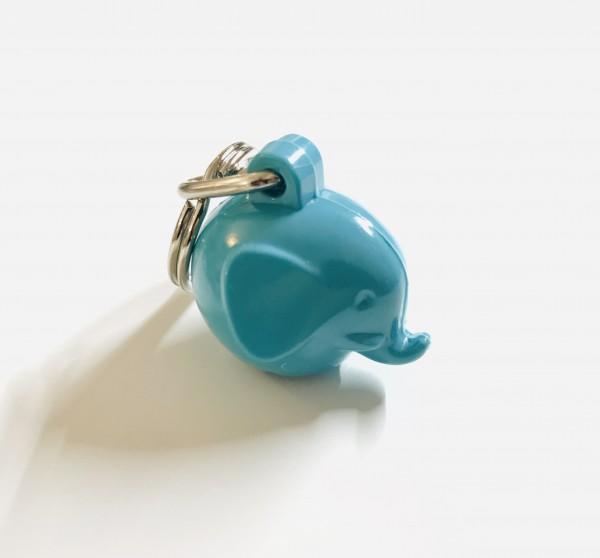 Schlüsselanhänger Elefant Türkis von Omm Design
